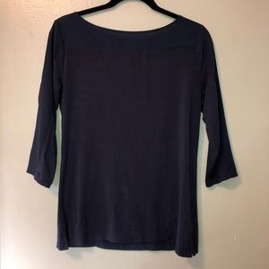 Joe fresh 3/4 sleeve navy blue top